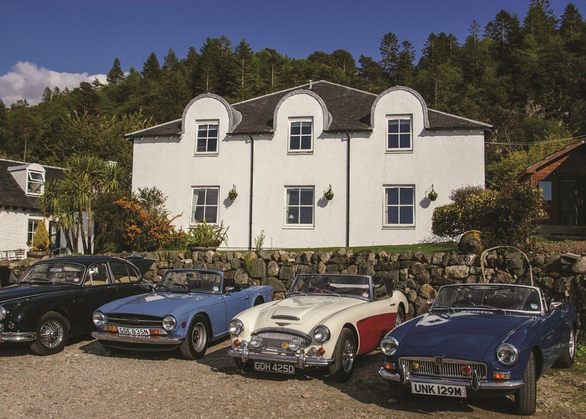 A Classic Car Scotland Distillery Tour. Photo Credit: Caledonian Classic Car Hire