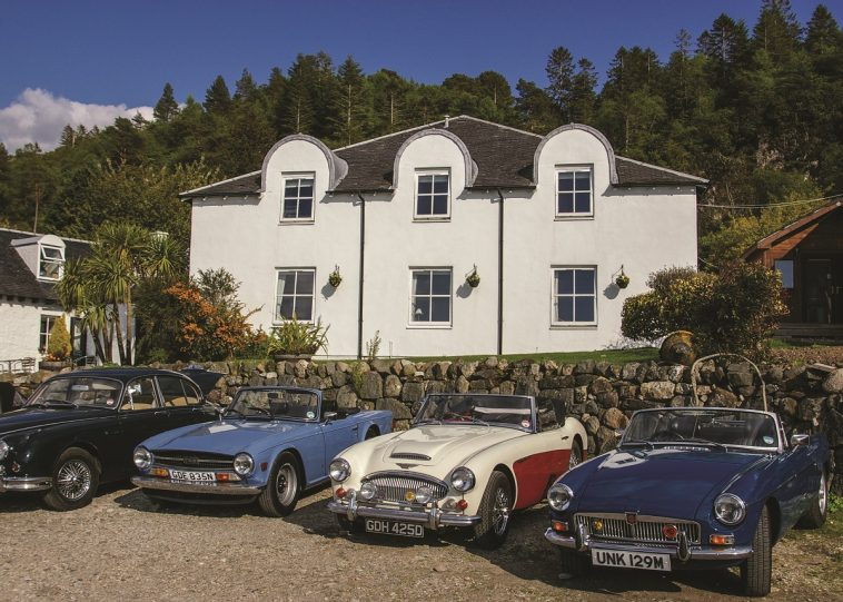 A Classic Car Scotland Distillery Tour. Photo Credit: Caledonian Classic Car Hire