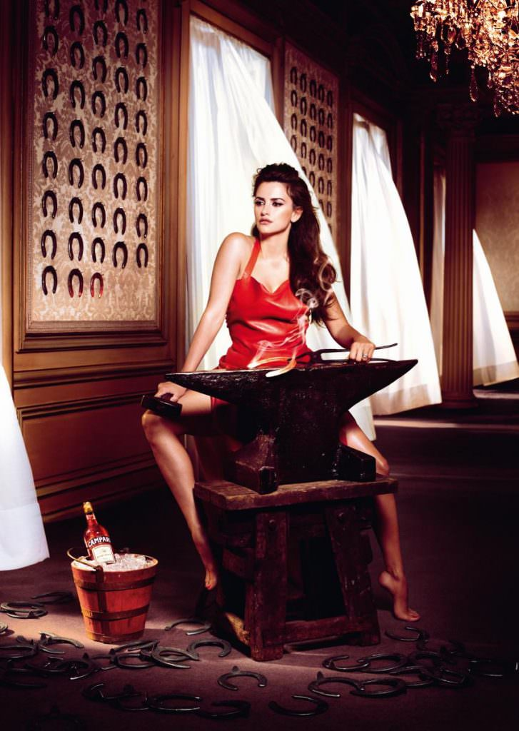 Penelope Cruz for the Campari calendar