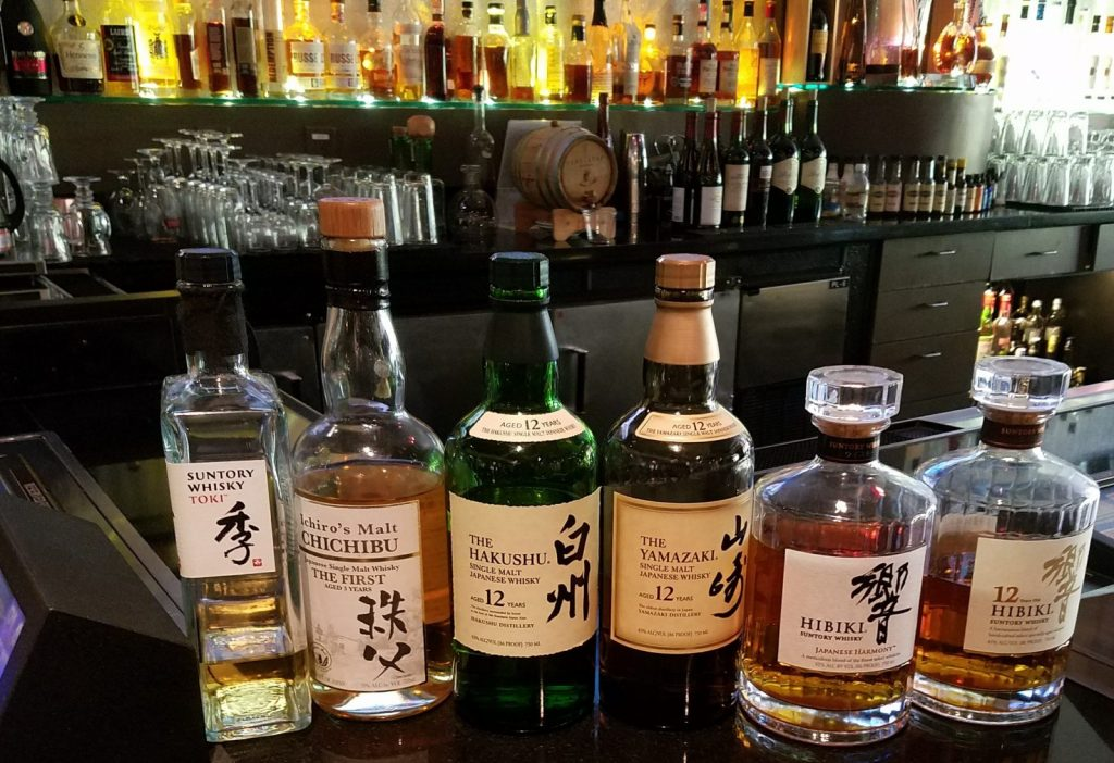 A Selection of Japanese Whiskies (Photo Credit: Aleza Freeman)