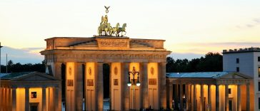 View from Hotel Adlon onto Brandenburg Gate