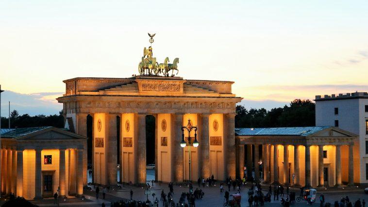 View from Hotel Adlon onto Brandenburg Gate