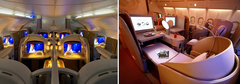 Emirates and Etihad luxury travel