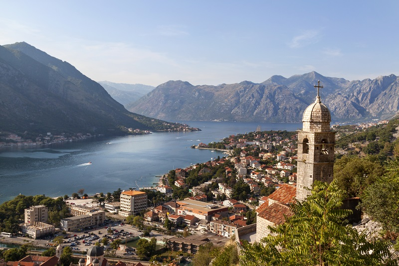 The stunning view at Kotor and the bay