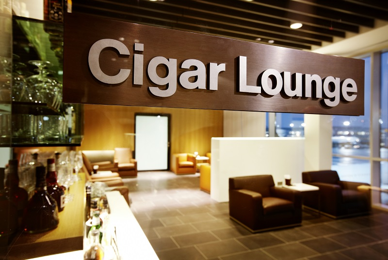 Lufthansa First Class Cigar Lounge