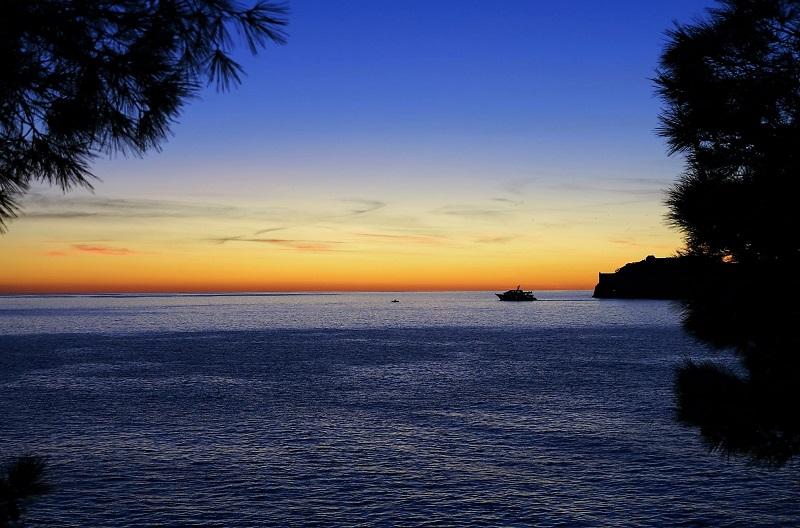 Hotel Villa Dubrovnik sunset view