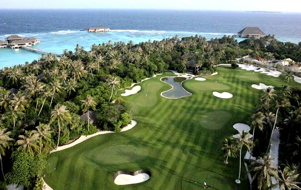Velaa Private Island, Maldives - Golf Course view