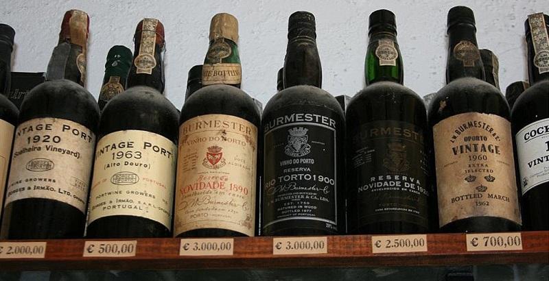 Old Vintage Port bottles