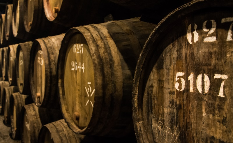 Tawny Port spends its time maturing in wooden casks