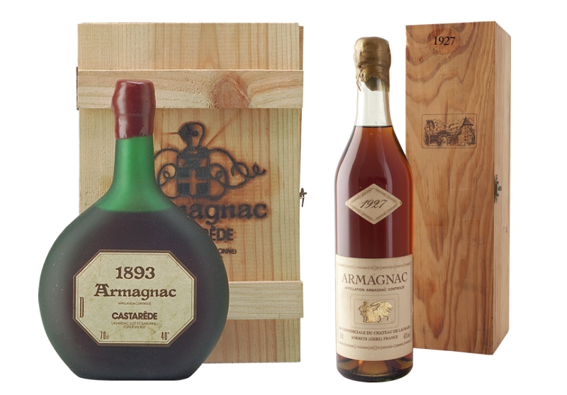 1893 Armagnac Castarede and 1927 Armagnac Chateau de Laubade, Old Liquors Collection