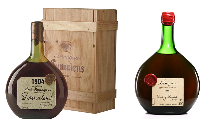1904 Armagnac Samalens and 1929 Armagnac DeLord, Old Liquors Collection
