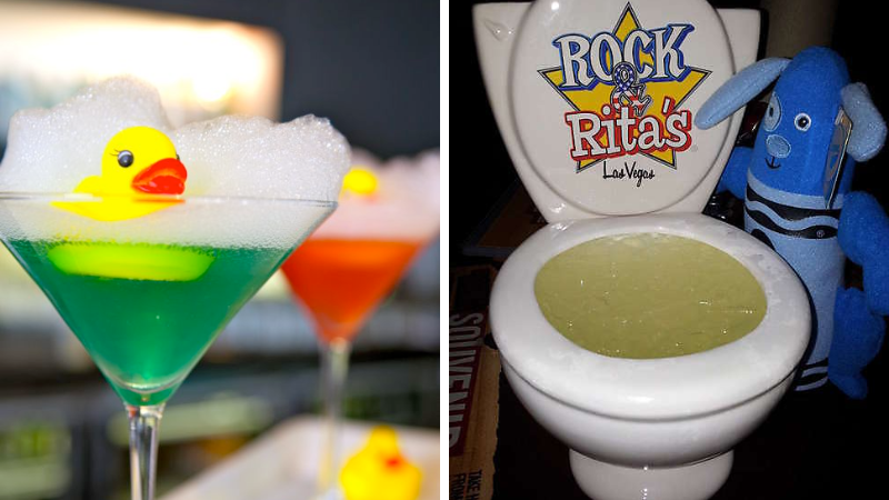 Bubble Bath Martini and The Crapper